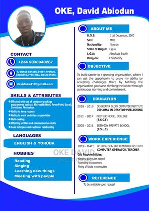 Customer Service CV | Customer Service CVs for sale in Ogun State, Ado-Odo/Ota