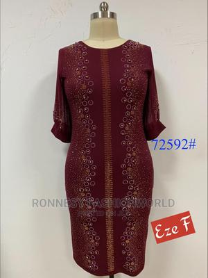 Elegant Classic Trendy Female Quality Stoned Gown   Clothing for sale in Lagos State, Ikeja