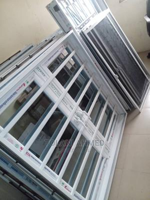 Aluminum Casement Window With Burglary Proof and Sliding Net | Windows for sale in Lagos State, Ajah
