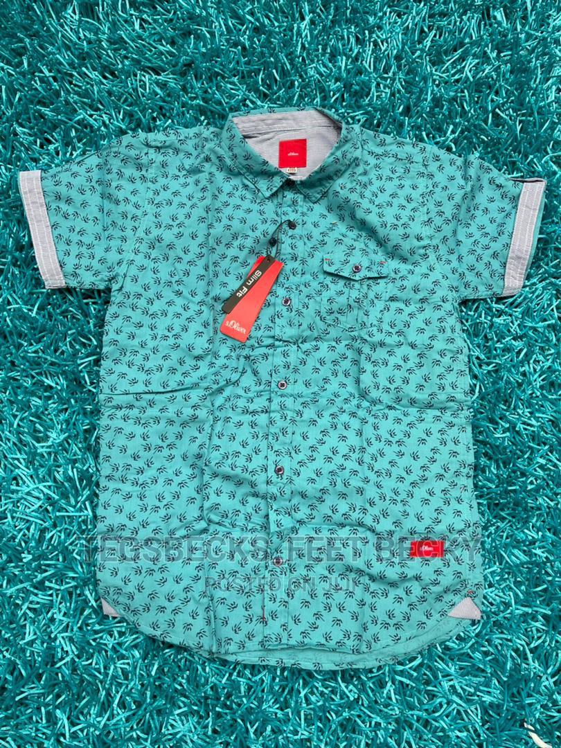 Green Colour Shirt for Boys