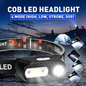 COB LED Headlight 4 Modes LED Fishing Flashlight | Camping Gear for sale in Lagos State, Surulere