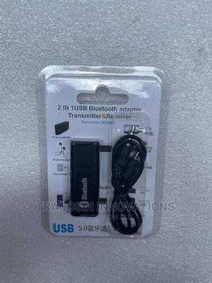 2 in 1 USB Bluetooth 5.0 Adapter. Transmitter Receiver   Accessories & Supplies for Electronics for sale in Lagos State, Yaba