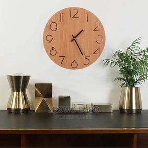 Glamorous Yet Simple Living Room Wooden Clock | Home Accessories for sale in Delta State, Udu