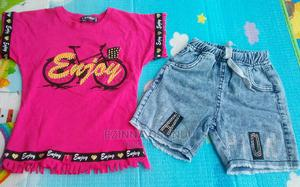Pink Polo and Jean Shorts | Children's Clothing for sale in Imo State, Owerri
