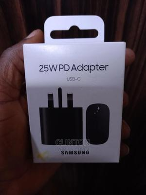 Samsung USB-C Super Fast Wall Charge-25w PD Adapter5ft Cable | Accessories for Mobile Phones & Tablets for sale in Lagos State, Ikeja