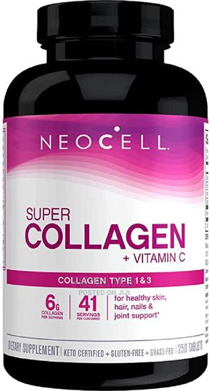 Neocell Super Collagen + Vit C, Type 1 3, 250 Tablets | Vitamins & Supplements for sale in Lagos State, Isolo