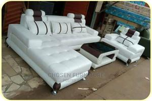 L- Shaped Leather Sofa With a Single and Center Table   Furniture for sale in Lagos State, Ikeja