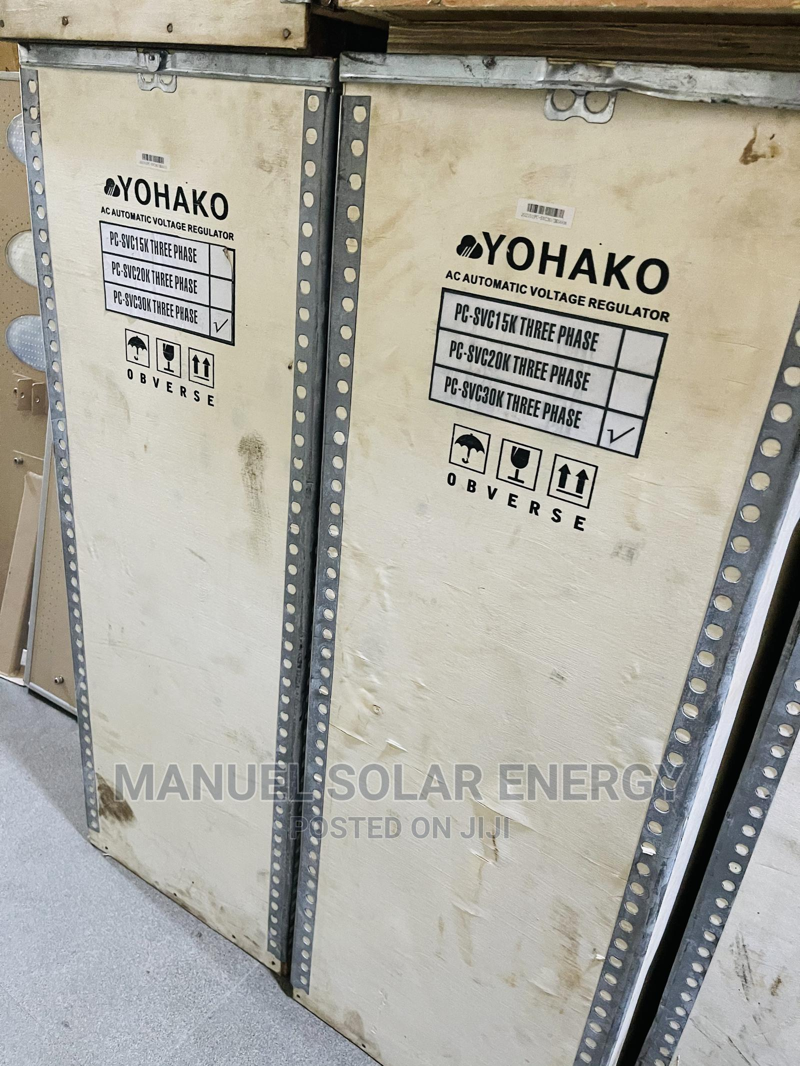30kva 3 Phase Yohako Stabilizer Available With 1yr Warranty | Solar Energy for sale in Ojo, Lagos State, Nigeria
