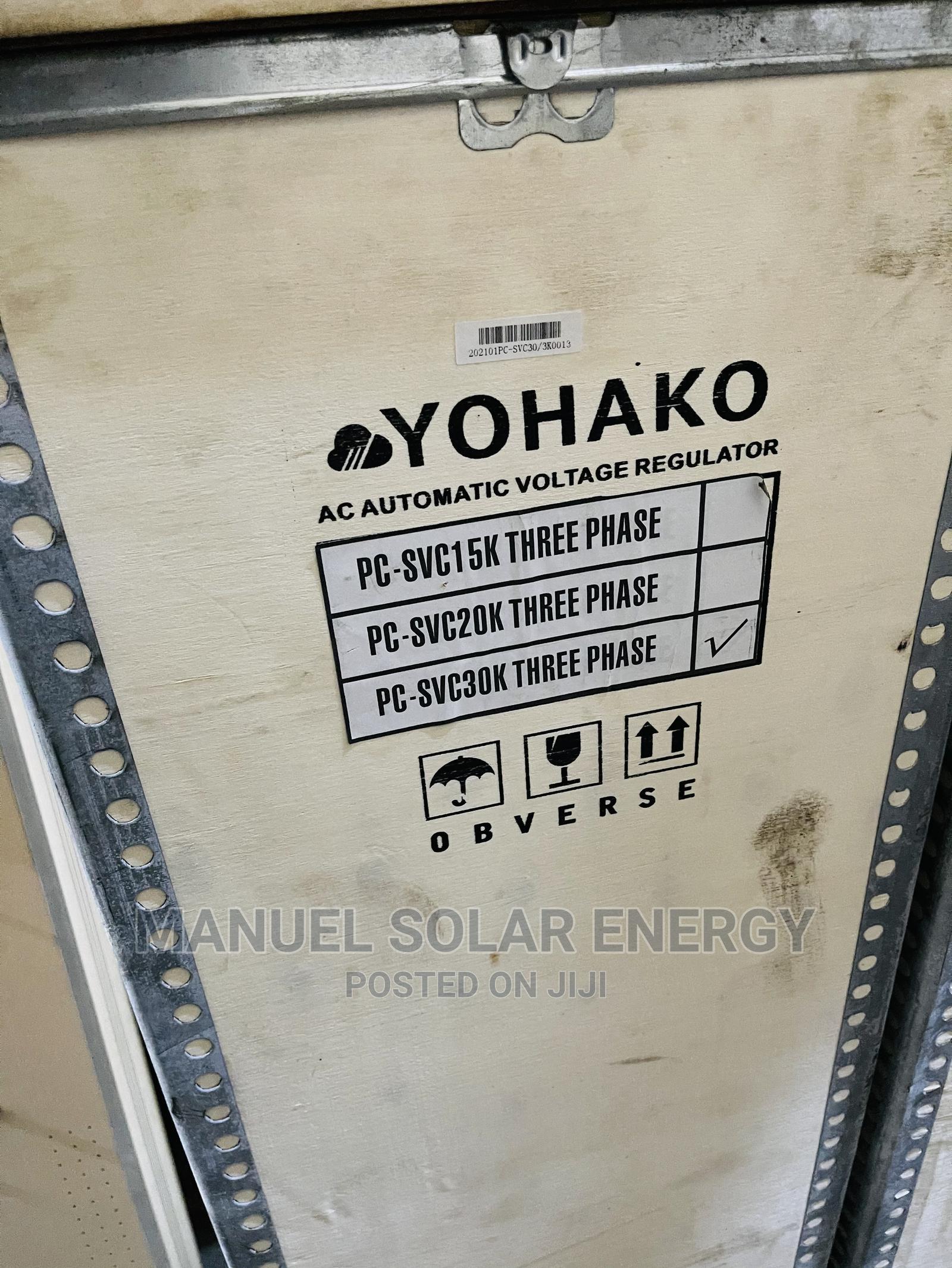 30kva 3 Phase Yohako Stabilizer Available With 1yr Warranty
