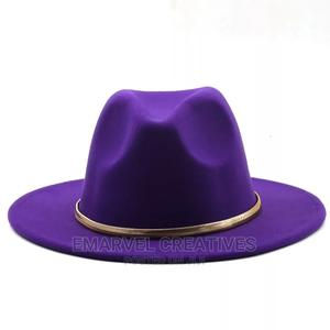 Wide Brim Simple Church Derby Top Hat Fedora Solid Felt F | Clothing Accessories for sale in Lagos State, Surulere