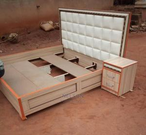 6 by 6 Bed Frame With a Bed Side   Furniture for sale in Lagos State, Ikeja