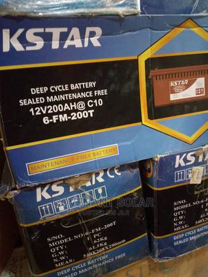 Star 12v 200ah Deep Cycle Battery With High Quality   Solar Energy for sale in Lagos State, Amuwo-Odofin