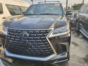 Lexus LX 2021 570 AWD Black   Cars for sale in Lagos State, Ogba