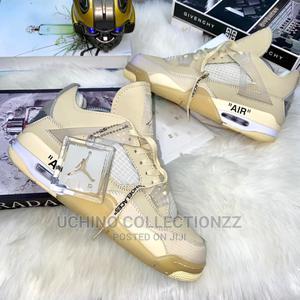 * •_air Jordan Retro4 Off White Sail— | Shoes for sale in Lagos State, Lagos Island (Eko)