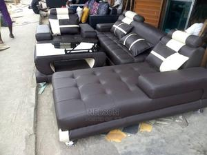 Exquisite L- Shaped Leather Sofa,A Single and Center Table | Furniture for sale in Lagos State, Ajah