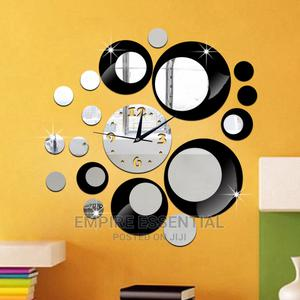3D Crystal Mirror Wall Clock Wall Sticker Decoration DIY | Home Accessories for sale in Ogun State, Abeokuta South