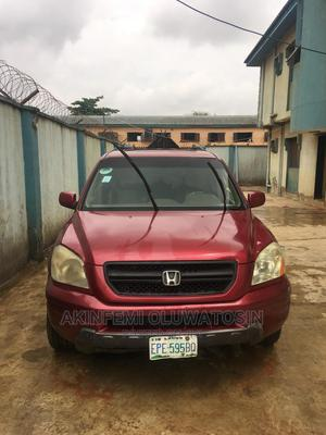 Honda Pilot 2005 EX 4x4 (3.5L 6cyl 5A) Red | Cars for sale in Lagos State, Alimosho