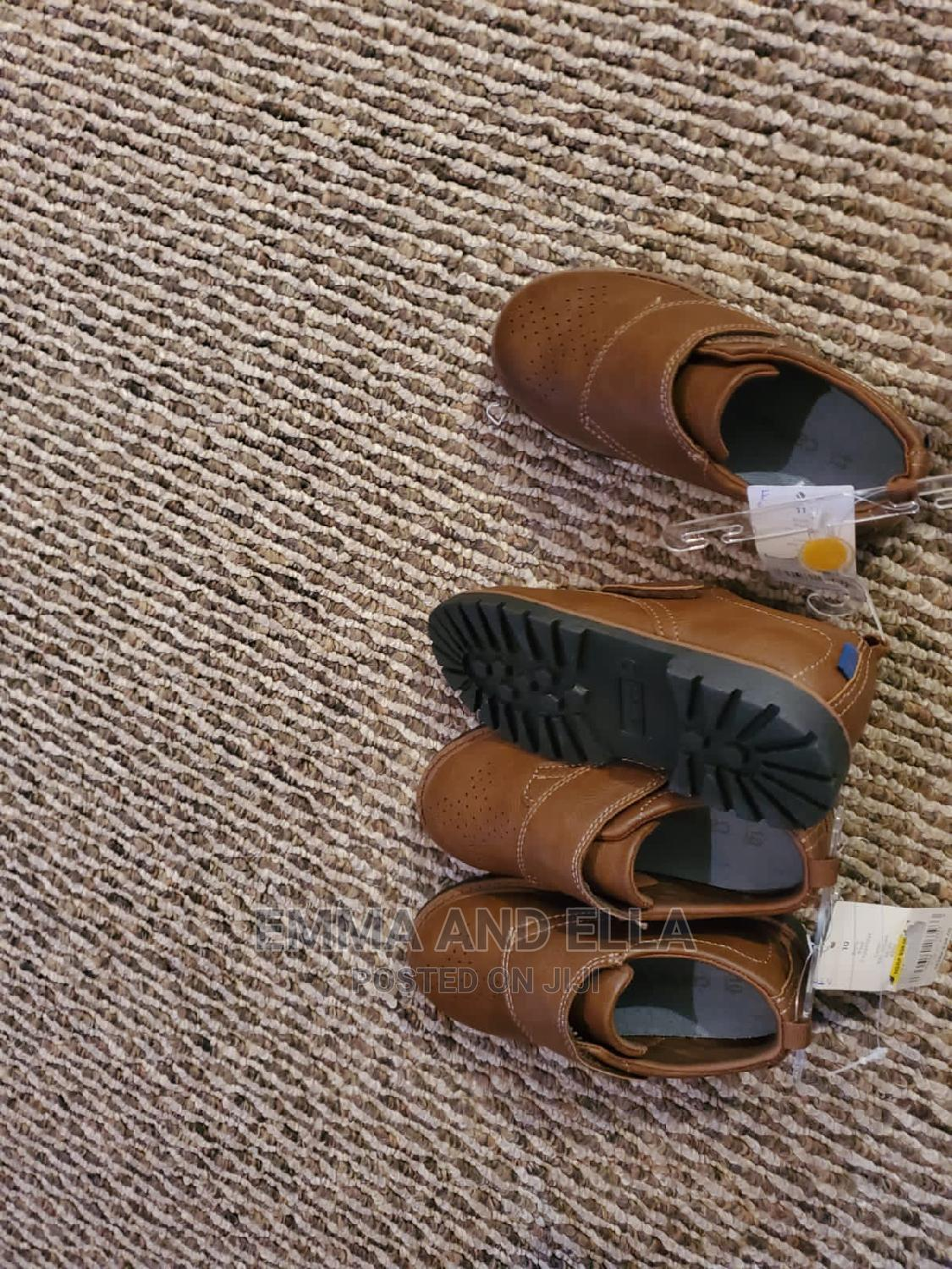Quality Leather Brown Boys Shoes