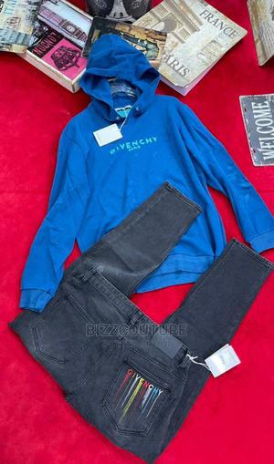 High Quality GIVENCHY Blue Hoodies Available for Sale   Clothing for sale in Lagos State, Ikoyi