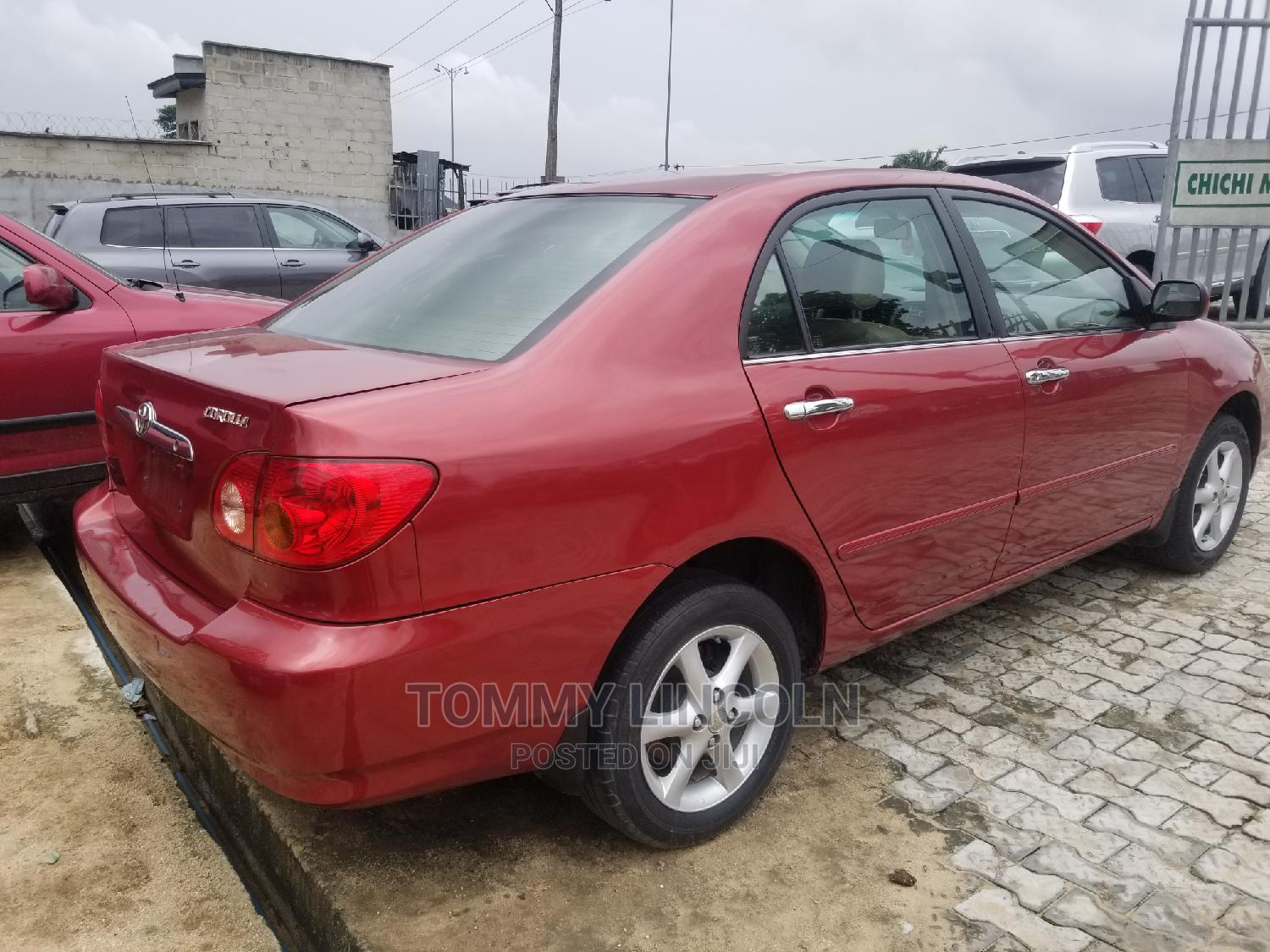Toyota Corolla 2005 Sedan Automatic Red   Cars for sale in Port-Harcourt, Rivers State, Nigeria