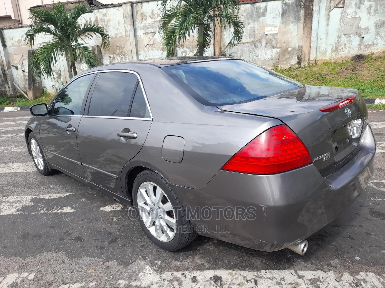 Honda Accord 2007 Sedan EX-L V-6 Automatic Gray   Cars for sale in Ikeja, Lagos State, Nigeria