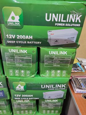 200ah/12v UNILINK Battery | Solar Energy for sale in Lagos State, Ojo