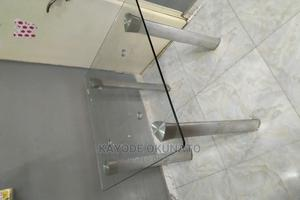 Used Glass Dinning Table.   Furniture for sale in Abuja (FCT) State, Lugbe District