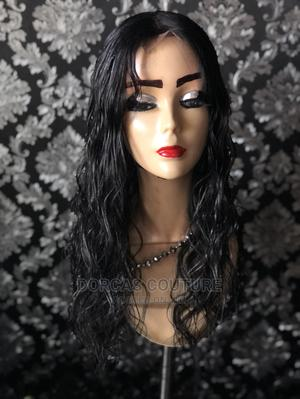 Middle Part Curly Hair Wig With Closure Natural Colour | Hair Beauty for sale in Oyo State, Ibadan