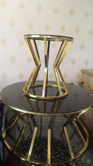 Imported Center Table and Two Side Stool | Furniture for sale in Lagos State, Amuwo-Odofin