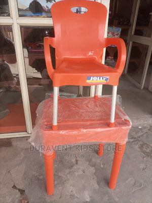 Kids Plastic Chair And Table With Locker   Children's Furniture for sale in Lagos State, Amuwo-Odofin