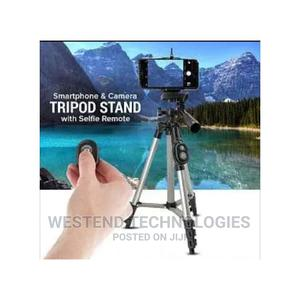 Smart Phone and Camera Tripod Stand With Bluetooth Remote | Accessories & Supplies for Electronics for sale in Lagos State, Ikeja