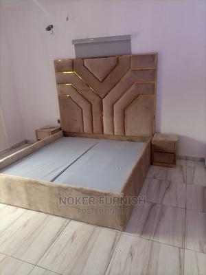 New Design Upholstery Bed's Golden Design   Furniture for sale in Lagos State, Lekki