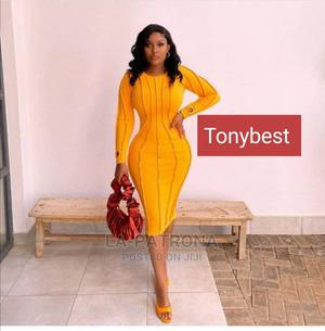 New Quality Fitted Yellow Gown | Clothing for sale in Lagos State, Lagos Island (Eko)