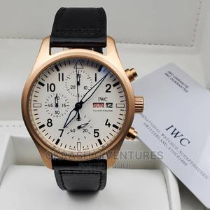 IWC Chronograph Rose Gold Leather Strap Watch | Watches for sale in Lagos State, Lagos Island (Eko)