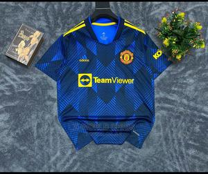 Manchester United Official 21/22 Away Blue Jersey   Clothing for sale in Lagos State, Surulere