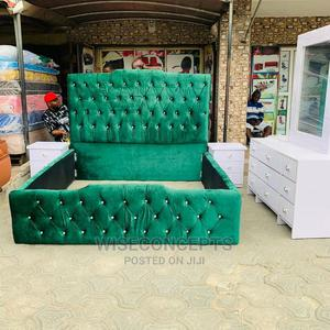 Well Designed 6by6 Upholstery Bedframe Complete Set | Furniture for sale in Lagos State, Lekki