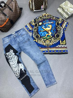 DOLCE and GABBANA Shirt With DIOR Jean Trouser   Clothing for sale in Lagos State, Ikeja