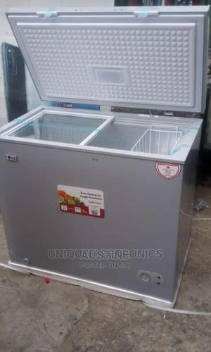 Brand New LG 300L Chest Freezer, External Compressor, Silver | Kitchen Appliances for sale in Lagos State, Ojo