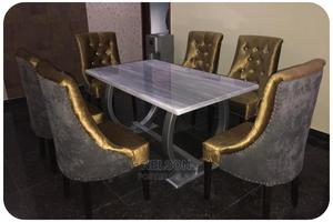 Golden 6 Seater Dinning Set With a Shinning Table Top | Furniture for sale in Lagos State, Ikeja