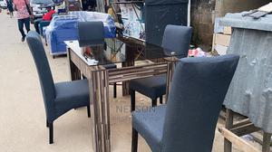 4 Seater Dinning Set With a Glass Table | Furniture for sale in Lagos State, Ikeja