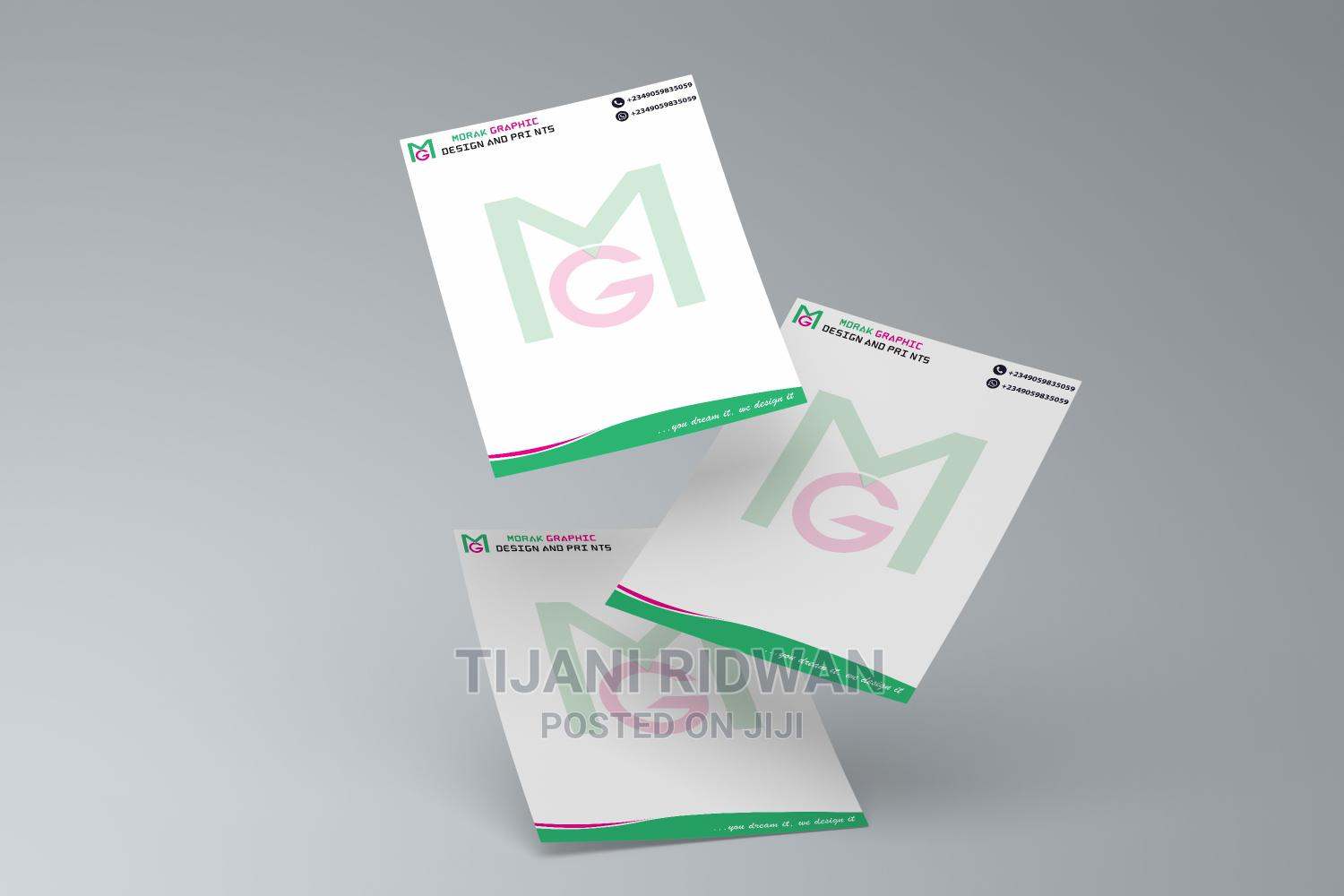 Letter Head   Printing Services for sale in Ibadan, Oyo State, Nigeria