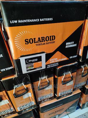 220ah/12v Solaroid Tubular Battery | Solar Energy for sale in Lagos State, Ojo