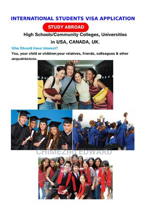 International Students Visa Application   Travel Agents & Tours for sale in Abuja (FCT) State, Apo District