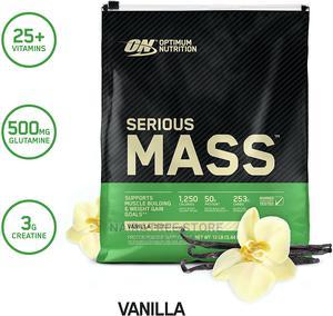 On Serious Mass Protein Powder, Vanilla, 50g Protein, 12lb | Vitamins & Supplements for sale in Lagos State, Lekki