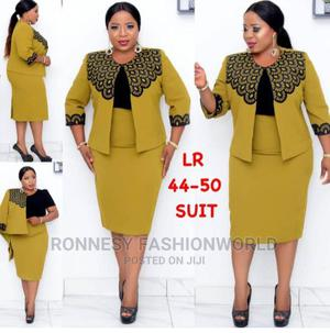 Elegant Classic Trendy Female Quality Two Piece Suit Gown | Clothing for sale in Lagos State, Ikeja