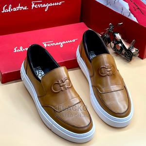Original Salvatore Ferragamo Casual Brown Sneakers Available   Shoes for sale in Lagos State, Surulere
