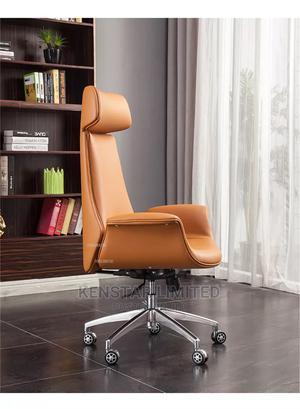 Executive Leather Office Chair- Brown | Furniture for sale in Lagos State, Yaba