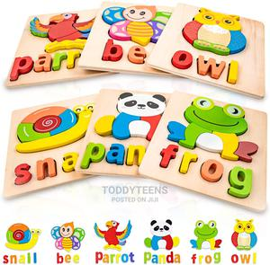 Wooden Peg - Object Shape and Alphabet Spelling Puzzles | Toys for sale in Lagos State, Ajah