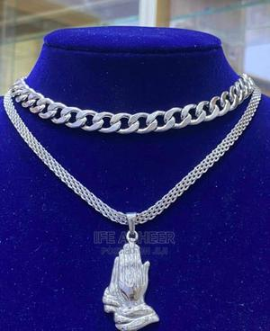 Men's Silver Chains and Pendant   Jewelry for sale in Lagos State, Ojodu