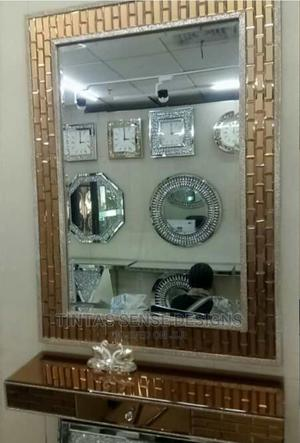 Gold Console Table and Mirror | Furniture for sale in Lagos State, Lekki